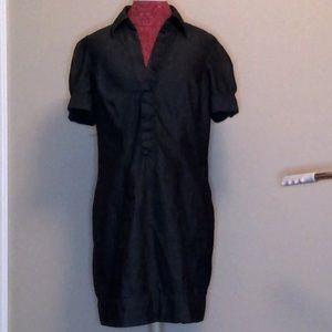 EUC denim look soft shirt dress